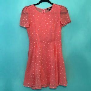 Dresses & Skirts - Pink polka dot dress pinup retro